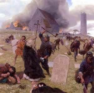 Viking raid on Lindisfarne